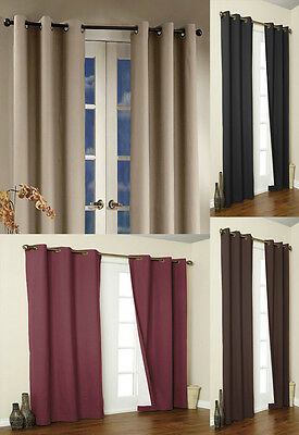 "Set of 2 Gorgeous Microfiber Room Darkening Blackout Window Panels 2 (54""X84""ea)"