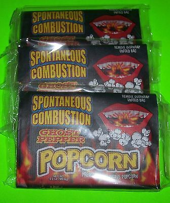 Spontaneous Combustion Microwave Popcorn With Ghost Pepper,two 3.5 Oz Bags