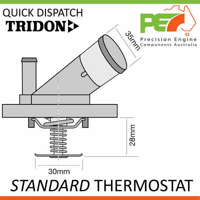 TRIDON HF Thermostat For Holden Rodeo TF88 07//88-01//93 2.6L 4ZE1