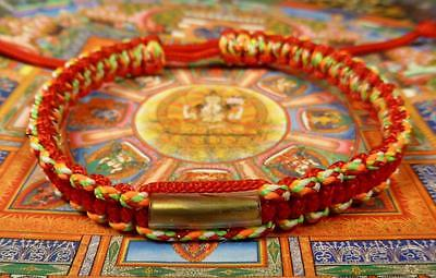 Buddha Sacred SAI SIN BRACELET blessed by Buddhist Monk. RED MULTI COLOUR A