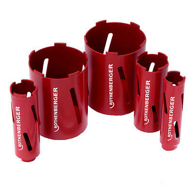 Rothenberger Dry Diamond Cores 38mm Core x 150mm