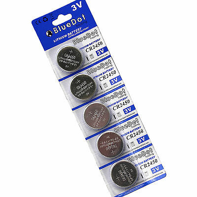 SHIPS FROM USA! Qty 5 CR2450 2450 ECR2450 KCR2450 5029LC LM2450 Battery NEW