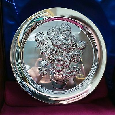 STERLING SILVER PLATE  Sunflowers by Van Gogh  8 ozt LE 7,500 COA