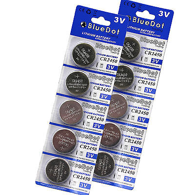 10x CR2450 ECR2450 5029LC CR BR LM DL CR 2450 DSL2450 3 Volt Button Cell Battery