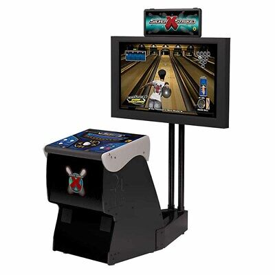 Silver Strike X Bowling Home Arcade Game With Monitor Stand