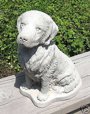 Concrete Golden Retriever Dog Statue / Monument