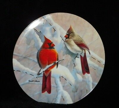 Cardinals On A Snowy Branch WS George Fine China Glorious Song Birds Signed 1991