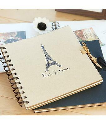 DIY 31 Pages Kraft Photo Album Scrapbook with 102pcs Photo Angel Corner Stick