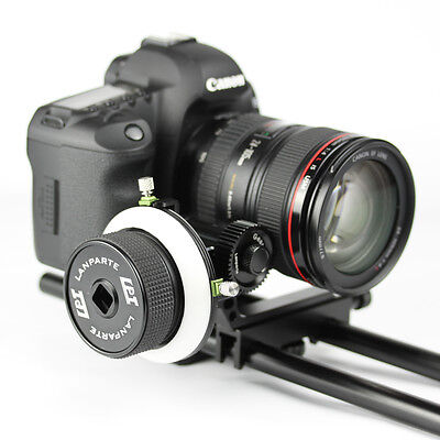 Lanparte FF-02 Pro Follow Focus with A/B Hard Stops & QR for DSLR/Camera Rig