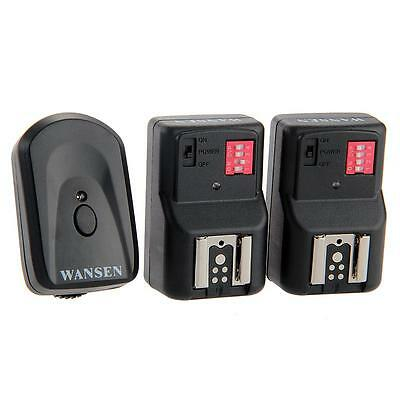 WANSEN PT-16GY 16 Channels Wireless Flash Trigger + 2 Receivers For Canon Nikon