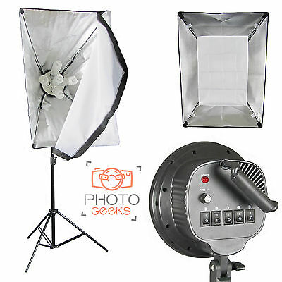 Studio Softbox Continuous 5 Bulb Light - Photography Photo Video Lamp Five Head