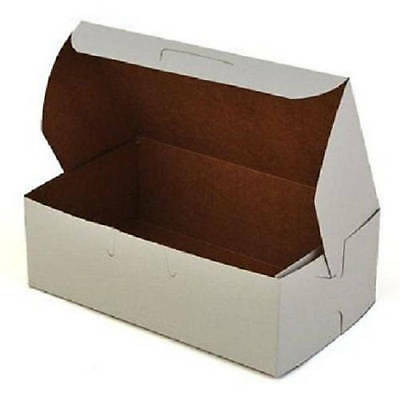 50 Bakery Candy Treats Eclair Mini Box 6-1/4 x 3-3/4 x 2 White Party Favor Boxes