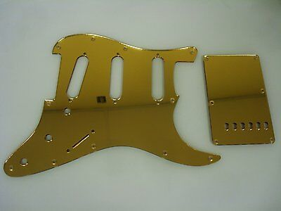 Strat Stratocaster Gold Mirror pickguard set Fender