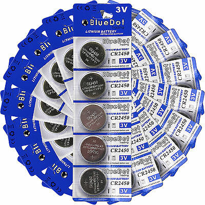 New 50 Pcs CR2450 CR 2450 DL2450 3V Lithium Cell Coin Battery SHIPS FROM USA