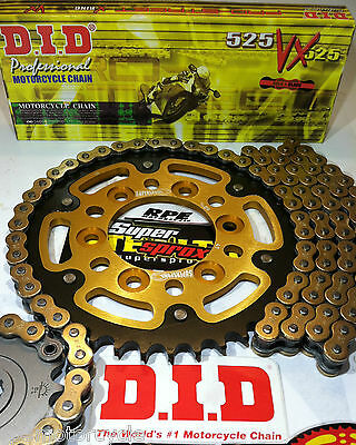 Zx6R Ninja '05-06 Supersprox Gold Did 525 Quick Accel Chain And Sprockets Kit