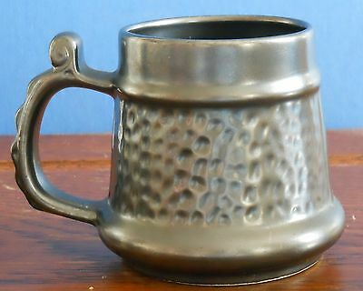 A Prinknash Abbey Pottery pewter effect tankard Mug