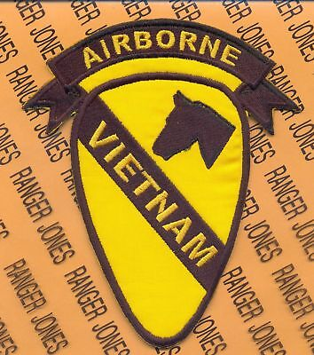 1st Cavalry Division Airborne Vietnam tab scroll patch