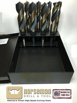 "92400 Norseman / Viking 8pc Drill Bit Set Super Premium S&D-8SP 9/16-1"" by 16ths"
