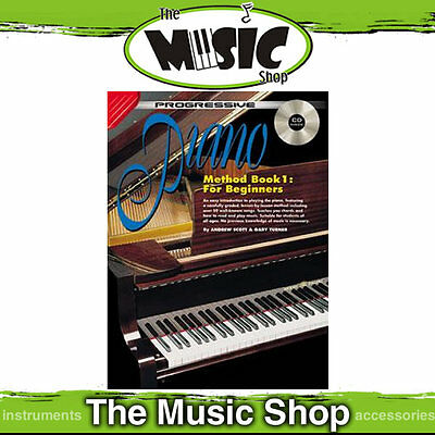 Progressive Piano Method Book 1 for Beginners with CD - Tuition Book