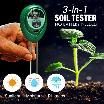 3 in1 PH Tester Soil Water Moisture Light Test Meter for Garden Plant Flower Kit