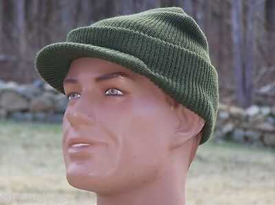 Jeep Hat MASH Military Knit Cap NEW Made in USA 100% Wool OD Green M1 Pot Liner