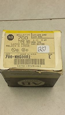 NEW ALLEN BRADLEY LATCH RELAY 700-NM600A1  110 VOLT 50 Hz