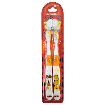 Brush Buddies Garfield Manual 2 Pack - Toothbrush for Kids - Garfield brush