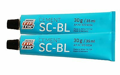 Rema Tip Top Special Puncture Repair Glue Cement 30G Tyre Inner Tube Patches X2