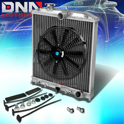 "Aluminum 2-Row/core Performance Radiator+12"" Fan For 92-00 Civic/del Sol/integra"