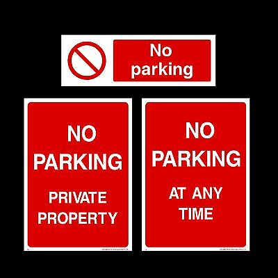 No Parking / Private Property Plastic Sign, Sticker - All Materials & Sizes