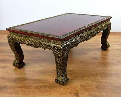 Asian Opium / Coffee / Sofa Table Red Glass Mosaic Style 76cm x 50cm