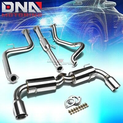"For 04-09 Mazda3 Hatchback J2 4.5""dual Muffler Tip Performance Catback Exhaust"