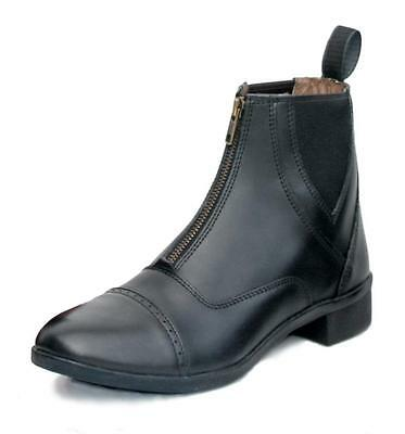 Leather Zip Fronted Jodhpur Boots Black 6