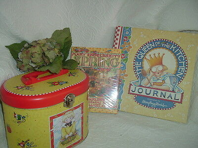 ~Mary Engelbreit Tin, Queen of the Kitchen Journal, Spring book~Lot~New~