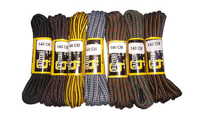 4 PAIRS OF STRONG WORK - HIKING BOOT LACES 140cm GRAFTERS  - * FREE DELIVERY*