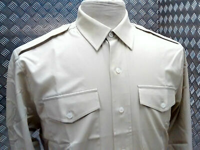 British Army No2 Dress Shirt Mans Fawn Army All Ranks New Cadets FAD Fancy Dress