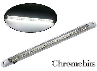 1 X Led 12V Light Strip Bar 400Mm Interior Lorry Tractor Camper On/off Switch