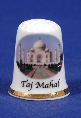 Taj Mahal India Bone China Thimble B/06