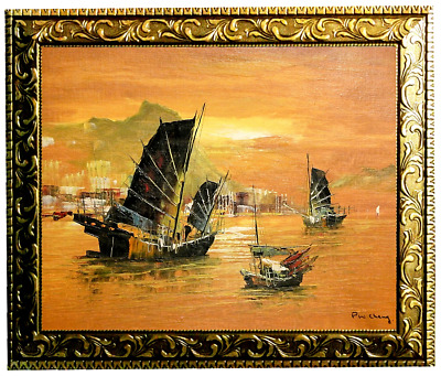 P.W. Cheng + J.Roybal--2 Framed ORIGINAL Oil Paintings/Canvas/Hand Signed/Lot #9