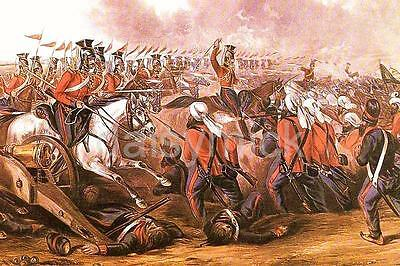 Anglo Sikh War Charge of The 16th Lancers 1846 British Cavalry 6x4 Inch Print R