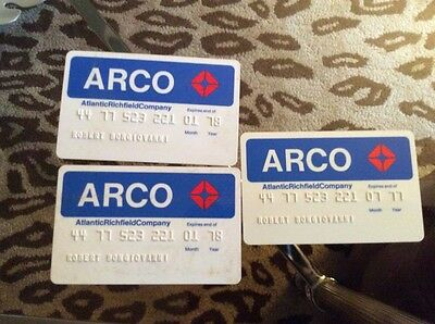 3 vintage 1970's Arco gas station credit cards