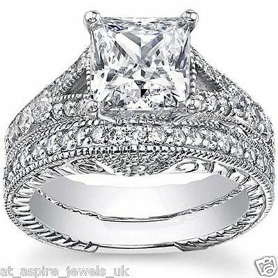 2.20 Ct Princess Cut Diamond Solitaire Engagement Ring Solid In 14 Carat Gold