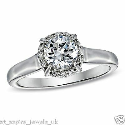 1.25 Ct Round Cut Diamond Solitaire Engagement Ring Solid In 14 Carat Gold