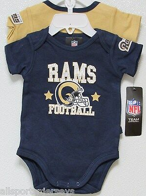 991783aa5e1 NFL NWT INFANT ONESIE-SET OF 2- St. Louis Rams 3-6 MONTHS - $26.95 ...