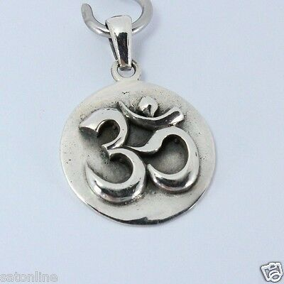 925 Sterling Silver Pendant Om Hindu, symbol of Lord Ganesh.(No.15)