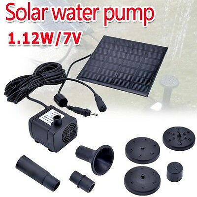 OZ A Power Panel Fountain Water Solar Pump Kit Submersible Garden Pond Pool
