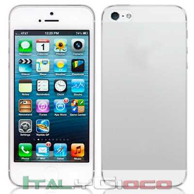 Custodia Silicone Ultra Thin Gel TPU Slim per iPhone 5 5S S Transparente