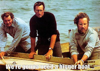 """NEW Jaws We're gonna need a bigger boat color large 34"""" x 24"""" POSTER"""