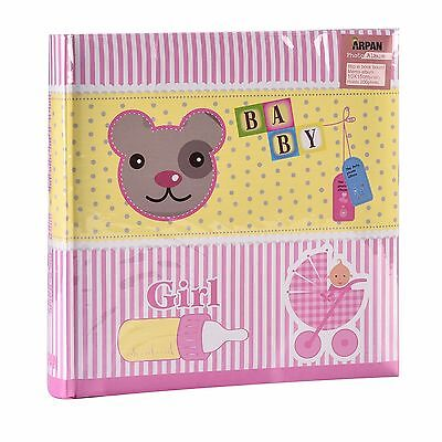 "~~ Baby Girl Pink  Photo Album Holds 200 Photos ( 4'' x 6"")   CE200 ~~"