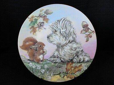 Ltd Ed SCAMP & SQUIRREL Royal Worcester Compton Puppy Dog Making Friends Plate